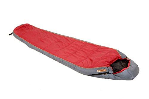 Snugpak 92010 Sleeper Lite Civilian Right Hand Zip Sleeping Bag, Red