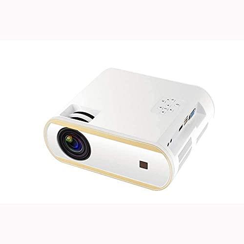 CJDM Proyector portátil Conexión inalámbrica de Doble frecuencia Pantalla Full HD 1080P Proyección de LCD estereoscópica incorporada Corrección Vertical