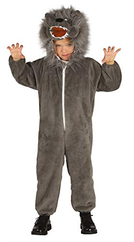 Guirca- Disfraz lobo, Talla 5-6 años (87491.0)