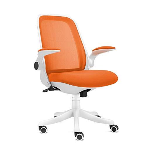 N/Z Tägliche Ausrüstung Stühle Schreibtischstuhl Office Essentials Schwenkbare gepolsterte Armlehnen mit Netzrücken und Rollen mit Kippfunktion Schwarz