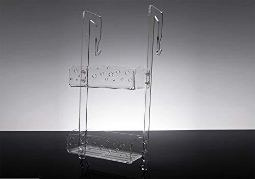 Slato Mensola per Doccia dal Design Moderno in plexiglass Trasparente Melia (65x25x12)