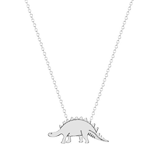 Chandler Vintage Gold-Color Silver Plated Dino Dinosaur Stegosaurus Necklaces Body Clavicle Chain Fashion Collar for Women