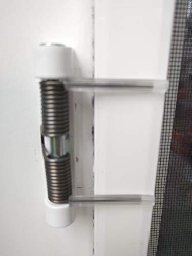 Schliesser, Feder, Federschliesser Fliegengittertür als Ersatzteil oder Zubehör für Insektenschutztür (1, Weiss RAL 9016)
