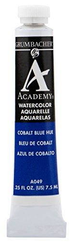 Grumbacher Academy Watercolor Paint, 7.5ml/0.25 Ounce, Cobalt Blue Hue (A049)