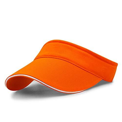 VSUSN Unisex Visor Cap Sonnenhut Einstellbar Sommerhut mit Klettverschluss für Damen und Herren, Orange