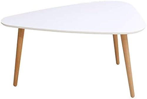 GYM Weißer Couchtisch einfacher und stilvoller kreativer Wohnzimmercouchtischminitisch (Farbe   Weiß, Größe   95X75X50CM)