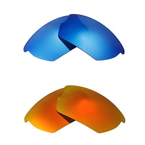 Walleva Polarisiertes Feuer Rot + Eisblau Ersatzlinsen für Wiley X Valor