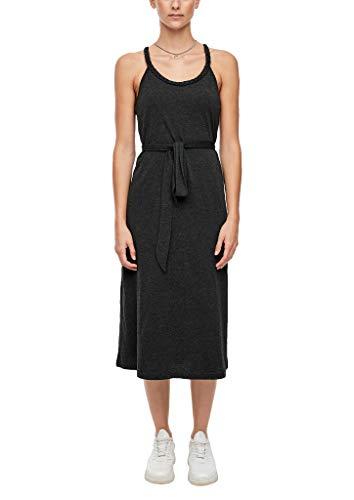 Q/S designed by - s.Oliver Damen Jerseykleid im Melange-Look Black M