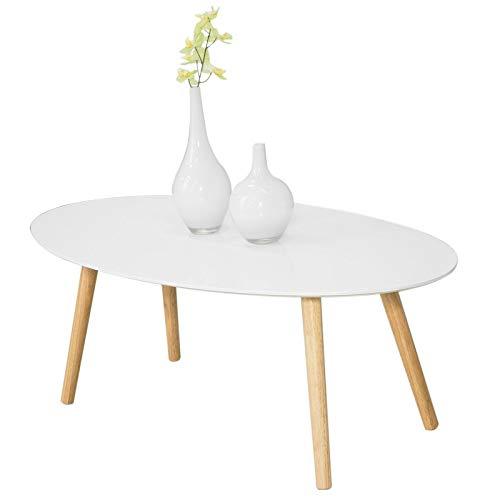 Mesa de Centro para Salón,Mesa de Café, Blanco, L105xH40 cm,FBT61-W, ES