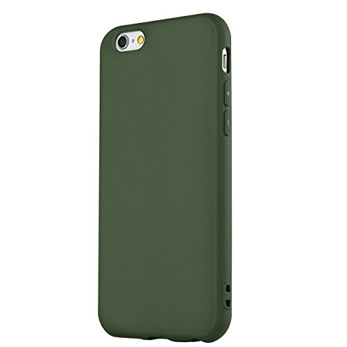 MANLENO iPhone 6 Case/iPhone 6s Case, Flexible Full Matte TPU Silicone Case for iPhone 6s 6 4.7 inch (Dark Green)