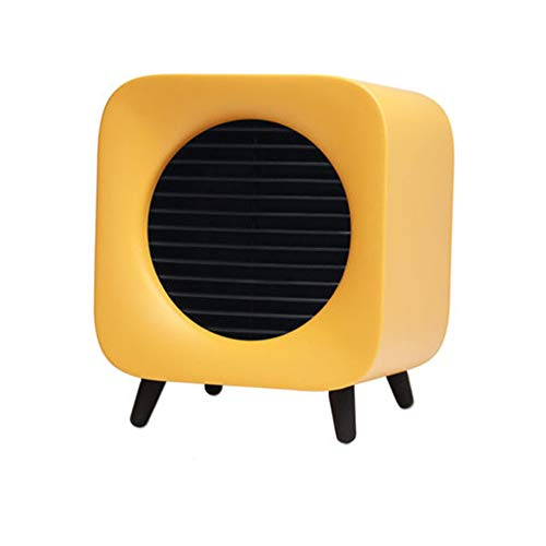 TSQ Calentador Personal, Aumento rápido de Temperatura, Interruptor Visual, posición de Doble Engranaje, diseño de Filtro de algodón, Alarma de Alta Temperatura, Material ignífugo