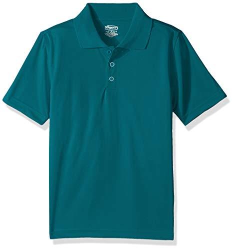 Classroom School Uniforms Boys' Big Youth Unisex Moisture-Wicking Polo Shirt, Teal, M