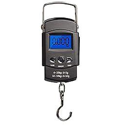 Pêche Balance numérique Hanging écran LCD électronique avec mesure Hanging bande crochet rétroéclairés piles AAA…