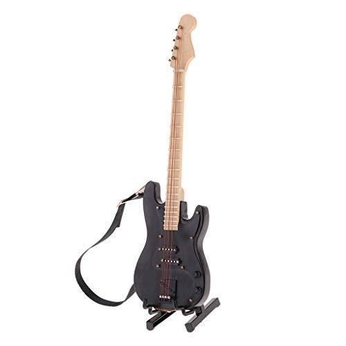F Fityle Mini Bajo Eléctrico Bass de Madera con Soporte de 20cm...