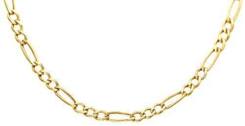 Carissima Gold Damen Hollow Figaro Halskette 9k(375) Gelbgold 2mm 51cm/20zoll