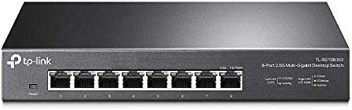 TP-Link Unmanaged 8-Port 2.5G Multi-Gigabit Desktop Switch, 802.3X Flow Control, 802.1p/DSCP QoS, Ideal for Small and Home Office withfanless design, Metal Casing, Plug and Play (TL-SG108-M2)