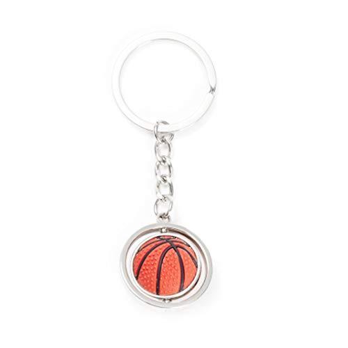 IKAAR Schlüsselring 360 drehbarer Basketball 3D Anhänger Schlüsselanhänger