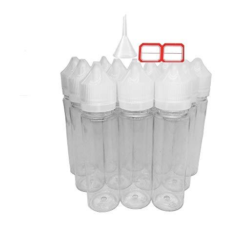 30 x 60ml botellas para liquido de cigarrillos electrónicos Suave apretar botella de PET comprimible par líquido alimentos grado Gorilla plástico transparente con tapas de Tampering