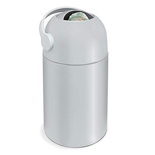 Lil' Jumbl Odor Locking Diaper Pail, Child-Proof Diaper Trash Can, Modern Sleek Design, Easy to Use & Clean, No Special Bag Required, Small Diaper Trash Can