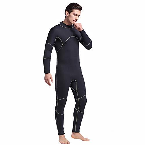 JenLn Traje de Snorkel Cálido Siameses de Manga Larga Hombres Adelgazan Snorkel Traje aptas for el baño Traje de baño de Hombres (Color : Black, Size : M)