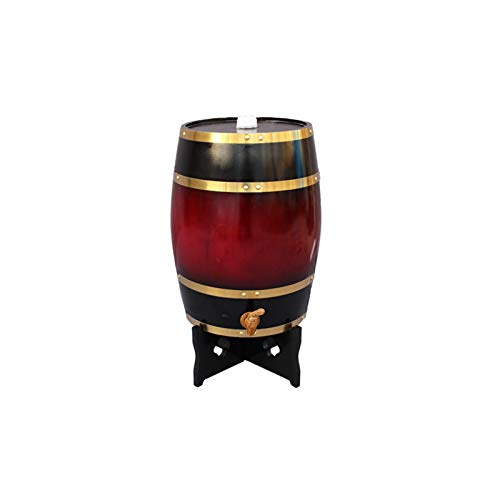 Barril De Vino Vertical,5L/10L/15L/20L/30L Oak Aging Barrel, Dispensador De Whisky Hecho A Mano con Botellero Adecuado For Almacenar Brandy De Vino De Whisky De Ron(Size:5L)