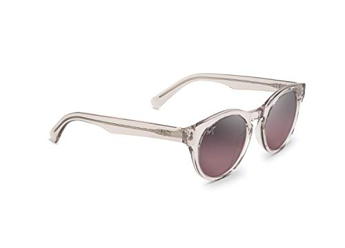 Maui Jim Dragonfly RS788-05B | Polarized Crystal with Hint of Pink Fashion Frame Sunglasses, Maui Rose Lenses, with Patented PolarizedPlus2 Lens Technology