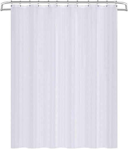 Utopia Home Duschvorhang [183 x 183 cm], wasserabweisend, antibakteriell, mehltauresistent, Gewebe, (weiß)