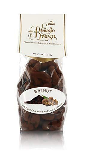 Ernesto Brusa Nueces Cubiertas de Chocolate Negro y Cacao en Polvo - 155 gr
