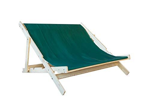 Windbrechtinger Houten ligstoel voor tuin, strand en balkon, dubbel bed voor 2 personen