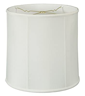 Royal Designs Basic Drum Lamp Shade, White, 15 x 16 x 16 (BS-719-16WH)