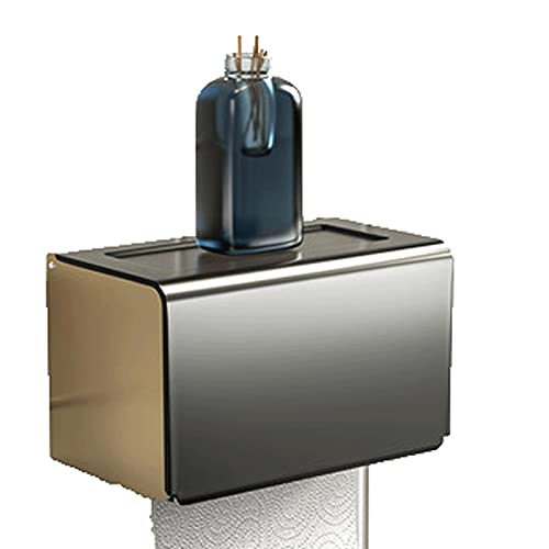 AITAOZI Caja de Tejido Inodoro Perforado Libre de higoby Holders Impermeable Bombeo Caja de Bombeo Montado en la Pared Papel de Papel Rack