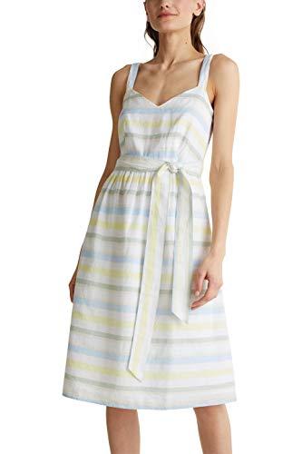 ESPRIT Damen 040EE1E338 Kleid, Off White 4 (113), 42