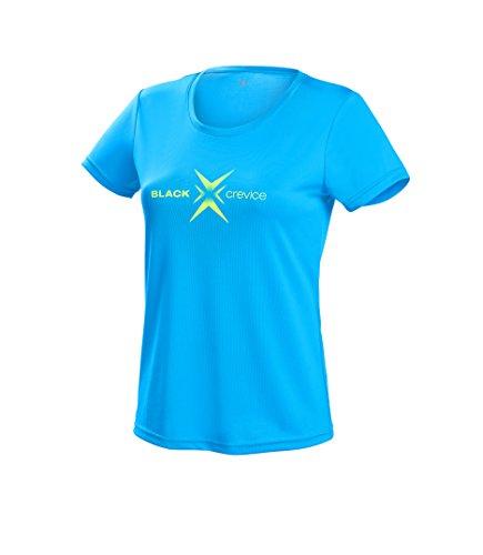 Black Crevice T-Shirt Fonctionnel pour Femme Bleu Taille 40