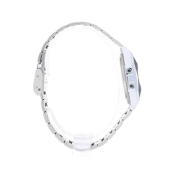 Casio A158wead-1ef) – Reloj multifunción con correa de acero plateado