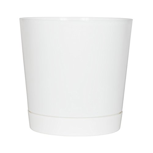 Full Depth Round Cylinder Pot, White, 14-Inch