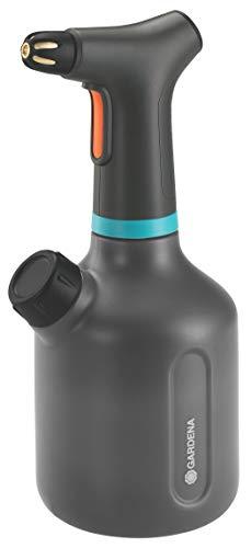 GARDENA Pumpsprüher 1l EasyPump: Indoor Akku-Pumpsprüher mit hochwertiger Messingdüse, große Öffnung zum einfachen Befüllen und Entleeren, integrierte Dosierkappe, mit Füllstandsanzeige (11114-20)