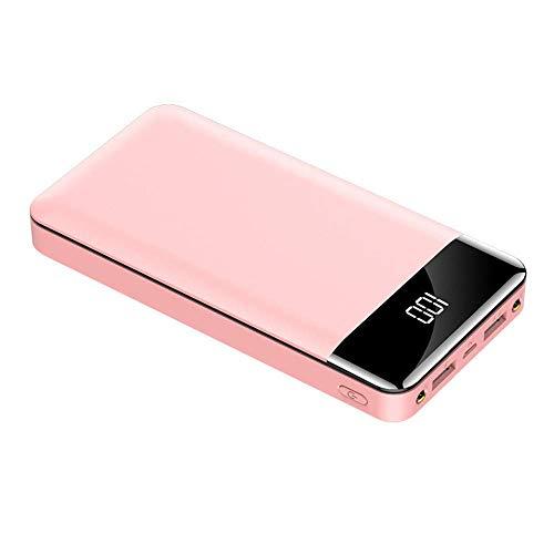 Wttfc Macht BankHigh Kapazität Energien-Bank 20000mAh bewegliche Ladepowerbank External Battery Pack Handy-USB-Ladegerät für Samsung   Energien-Bank,Rosa