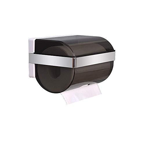 WCJ Toiletpapierhouder - aan de muur gemonteerde waterdichte punchfree toiletpapierrek Zichtbaar doorschijnend, de hoeveelheid papieren handdoeken kan worden waargenomen