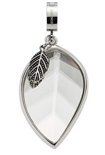 Jewels by Leonardo DARLIN\'S Damen-Anhänger Adelia mit Mini-Clip, Edelstahl mit facettiertem Glas-Stein, Clip & Mix System, Größe (B/H/T): 24/53/11 mm