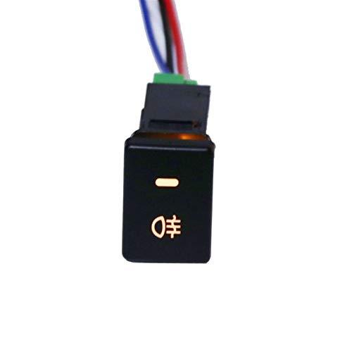 Interruptores de coche y relés DC12V Luz de niebla Trasera Interruptor 4 Alambre Botón Para Toyota Camry Prius Corolla