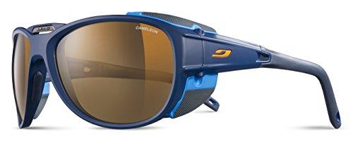 Julbo Explorer 2.0 - Gafas de sol para hombre, color azul oscuro mate y azul cian