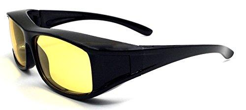 Oule Überzieh-Nachtsicht-brille Unisex Polarisiert UV380 für Brillenträger Fit-Over Überbrille Sonnenbrille