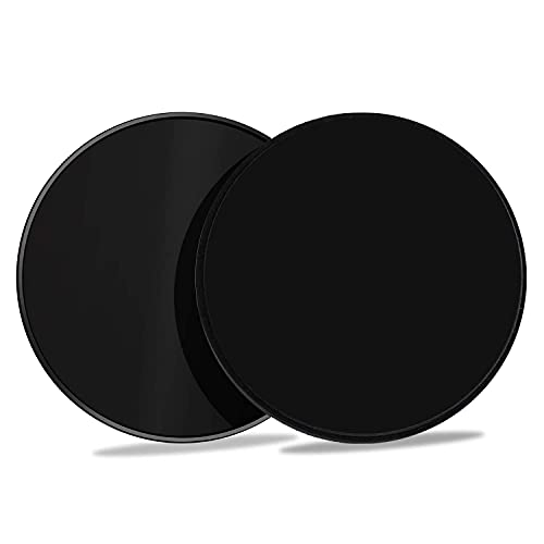 Gliding Discs Core Sliders Smooth Gliders Dual-Sided Design Core Exercise Sliders Use on Hardwood Floors, Workout Sliders Fitness Discs Abdominal & Total Body Gym-Exercise Equipment Set of 2