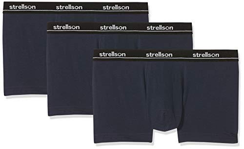 Strellson Bodywear Herren Set Shorts Hipster, Blau (Total Eclipse 572.0), X-Large (3er Pack)