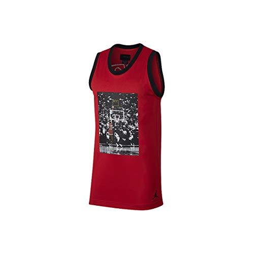 Nike Air Jordan Sportswear Last Shot Mesh Men's Jersey Medium Red/Black