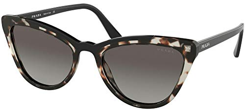 Prada 0PR 01VS Gafas de sol, Opal Spotted Brown/Black, 56 para Mujer