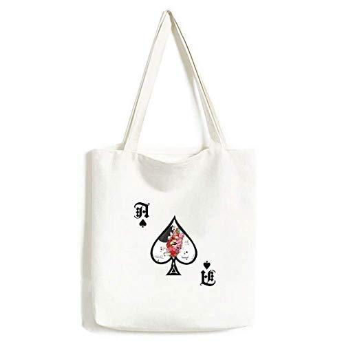 Traditonal Taiwan Impression Handtasche Craft Poker Spaten waschbare Tasche