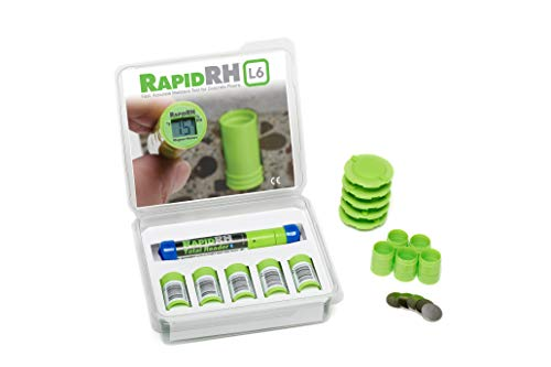 Wagner Meters Rapid RH (Smart Sensor w-Celsius Total Reader, 5 Pack)