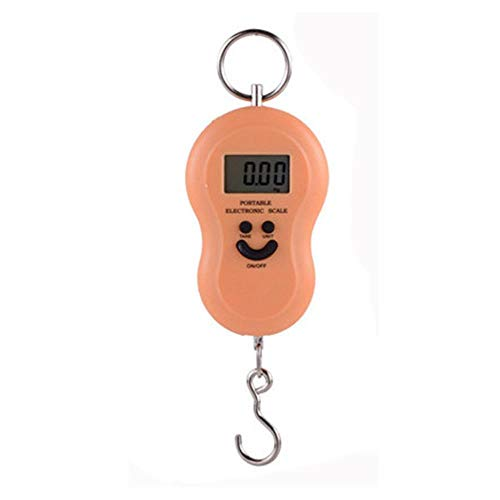 Gourd Mini Handheld Portable Scales Portable Electronic Scales Hanging Scale Luggage Scale Called Express Package,Orange