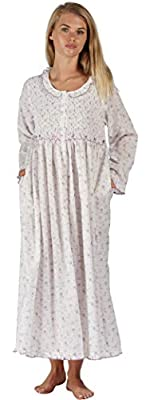 The 1 for U Elsa Nightgown - Housecoat - Robe 100% Cotton - XS-3XL (Large, Lilac Rose) from